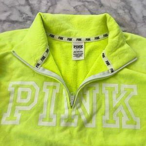 PINK Neon Yellow Sweatshirt